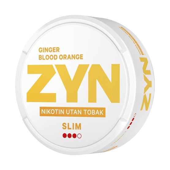 ZYN slim strong ginger blood orange