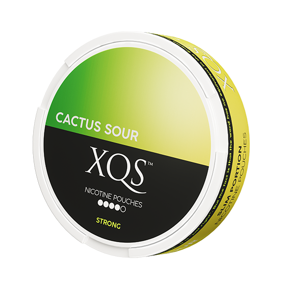 XQS Cactus Sour Slim All White Nicotine Pouches