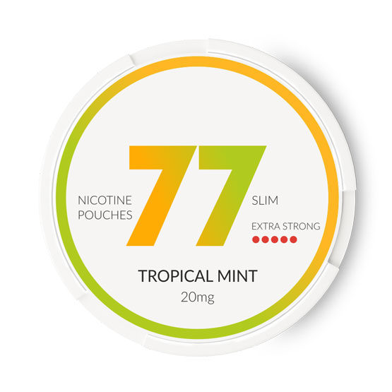77 Tropical Mint All White Slim Portion 20 mg/g